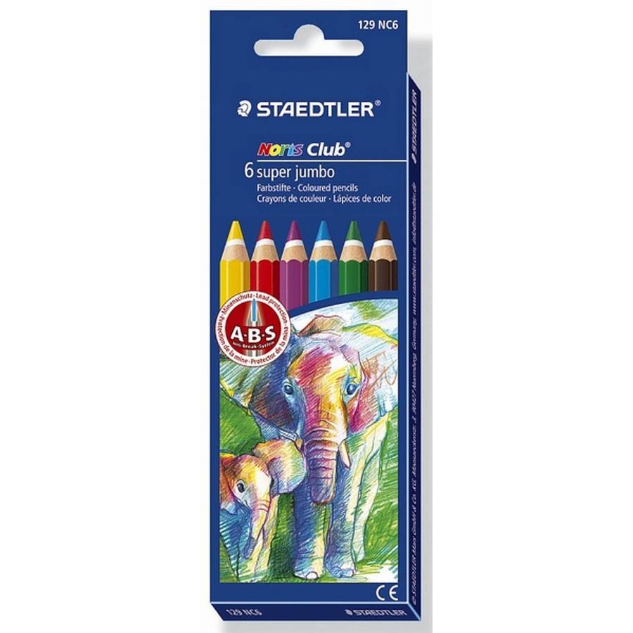 Staedtler® Noris Club Dreikant-Jumbo Buntstifte Farbstifte 128 NC 6-er-Set